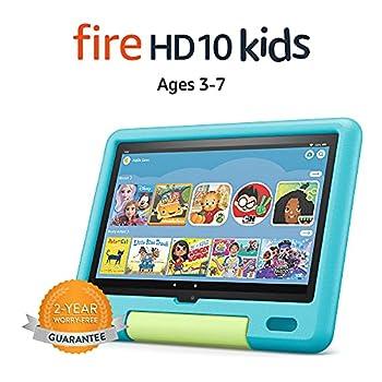 All-new Fire HD 10 Kids tablet 10.1  1080p Full HD ages 3–7 32 GB Aquamarine