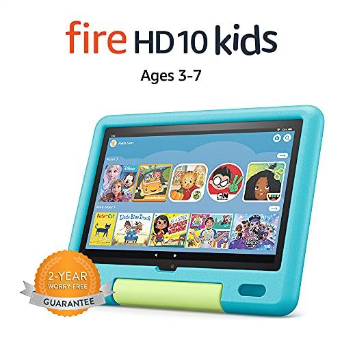 All-new Fire HD 10 Kids tablet, 10.1 , 1080p Full HD, ages 3–7, 32 GB, Aquamarine