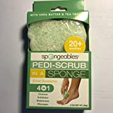Spongeables Pedi-Scrub 2 oz. Foot Buffer with Citron-Eucalyptus Aromatherapy (1 Pack)