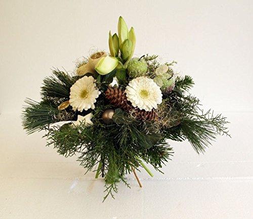 Blumenstrauß im Advent mit weißer Amarylles - Schneegestöber Größe 25 Euro