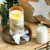 JewelCandle Creamy Vanilla Grande Jarre (1020g, 95-125heures de Combustion) Beige...