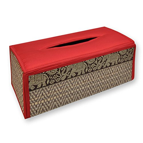 Housse pour boîte à mouchoirs rectancle, rouge, serviettes papier, lingettes (19859)