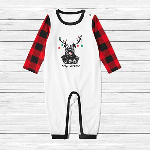 LWWOG Christmas Parent-Child Pajamas Suit Baby One Piece Set Round Neck Long Sleeve Open Pants Comfortable And Soft Skin-Friendly