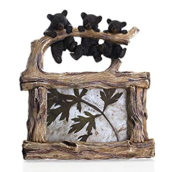 Slifka Sales Co Three Bears Natural Brown 10 x 9 Resin Stone Tabletop Photo Picture Frame