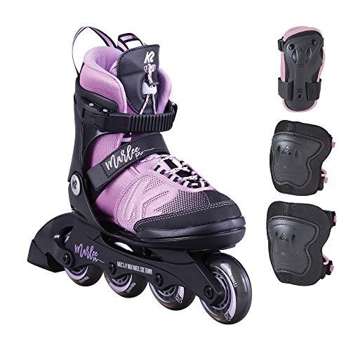 K2 Inline Skate Set MARLEE PRO PACK Für Mädchen Mit K2 Softboot, Black - Lavendar, 30D0235