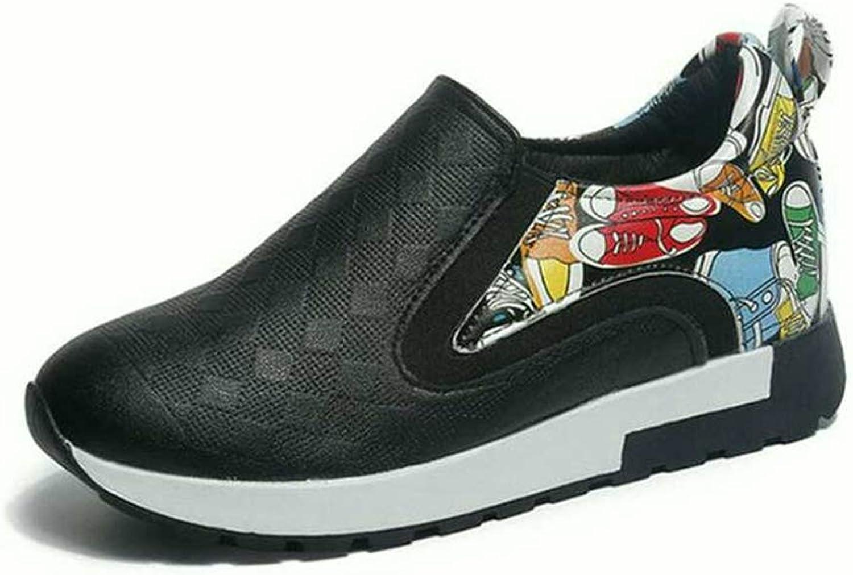 U-MAC Women Wedge Sneakers Hidden Heels Female Platform Round Toe Platform Breathable Flat Casual shoes
