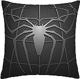 Housse de coussin Spiderman décorative pour canapé, voiture, pour l'extérieur, maison, lit, 45 x 45 cm, lot de 1