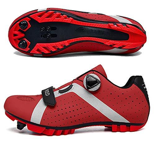 YUJIA Zapatillas de Ciclismo Elite SPD MTB para Hombres Mujeres Ideales para Bicicletas de montaña, Ciclismo de Ciclo XC en incluidos
