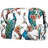 Neceser de viaje de nylon, Dopp Kit de afeitar bolsa de aseo organizador de pavo real soporte ramas flor floreciente 18.5x7.5x13cm