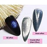 Imán De Esmalte De Gel Stick 3pcs Nail Art Magnet Para La Familia Para Uso Doméstico Para Salón De Uñas Para Uso Personal(Imán de silicona amarillo raqueta)