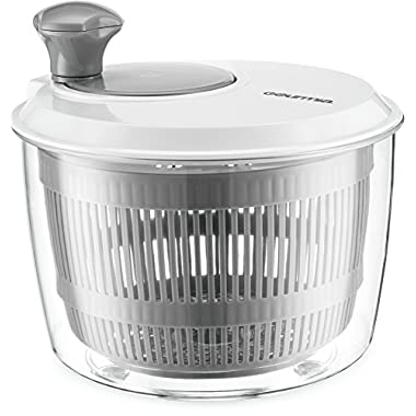 Gourmia GSA9135 Mini Salad Spinner – Easy Lettuce and Herb Rinsing, Drying and Prep – Mix and Fluff Leafy Greens – BPA Free and Top Rack Dishwasher Safe