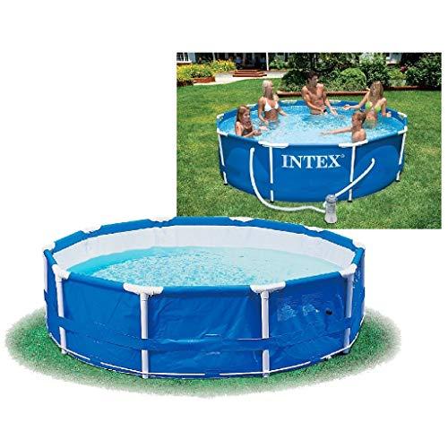Intex Metal Frame Pool - Aufstellpool - Ø 366 x 76 cm - Mit Filteranlage - 12V
