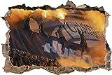 Ultras Gelsenkirchen Hugos, 3D Wandsticker Format: 62x42cm,