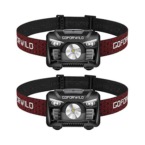 powerful A set of two rechargeable headlights, 500 lumens Cree white LED headlights, red lights, movement …
