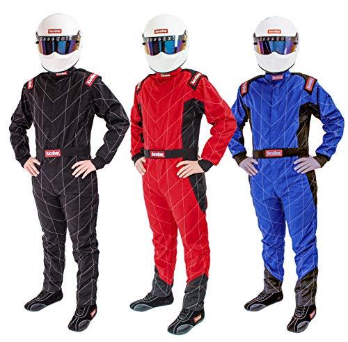 RaceQuip Racing Driver Fire Suit Jacket Single Layer SFI 3.2A/ 1 Blue Large 131925