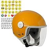 CGM Varadero Smile, Casco Bambino Junior Demi Jet Moto Scooter, Arancione, YS (49-50cm)