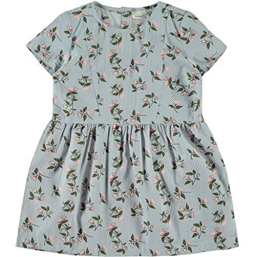 NAME IT Mädchen Sommerkleid mit Blumenprint in blau 104/3-4 Jahre