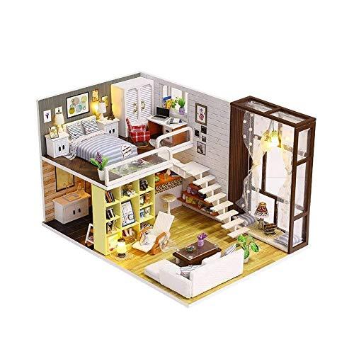 Miniatura Super Mini Tamaño Casa De Muñeca De Kits De Edificio Modelo Muebles De Madera Juguetes De Bricolaje Dollhouse Chica Dormitorio Contratado City Plástico Escala De árboles Verdes Modelos Arqui