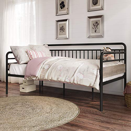 Better Homes & Gardens Anniston Twin Metal Daybed, Rustic Gray Finish