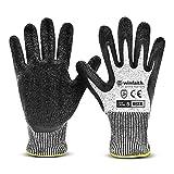 Winfaith Guanti da Lavoro Uomo Donna Antitaglio Protezione di Livello 5 Certificato EN 388 - Comodi e Leggeri - Presa salda per Meccanico, Giardinaggio, Cucina - Lavabili in Lavatrice (1, M / 8)