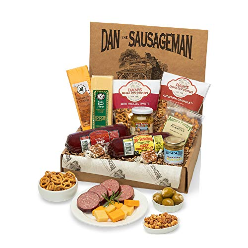 Dan the Sausageman s Sounder Gourmet Gift Box -Featuring Smoked Summer Sausage and Wisconsin Cheeses
