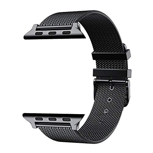 Fawyhr Banda de Reloj de Bucle Milanese Iwatch Correa Brazalete de Acero Inoxidable Serie (Size : 38mm 40mm)