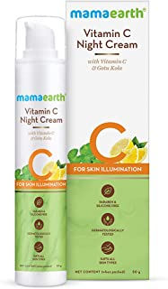Mamaearth Vitamin C Night Cream For Women with Vitamin C & Gotu Kola for Skin Illumination – 50g