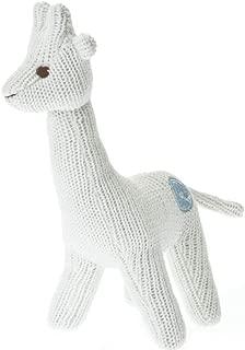 Beba Bean Knit Giraffe Rattle Ivory