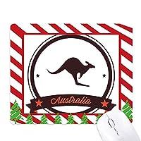 オーストラリアのカンガルーのイラスト風味のエンブレム ゴムクリスマスキャンディマウスパッド