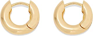 Women's Lou Huggie Earrings, Small High Shine Chunky...