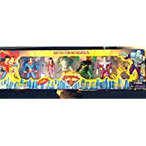 Superman Battle For Metropolis 4 Pack with Lois Lane, Lex Luthor and Brainiac by Superman