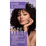 Permanent Hair Color by Dark and Lovely Fade Resist I Up to 100% Gray Coverage Hair Dye I Natural Black 372 I SoftSheen-Carson I Packaging May Vary