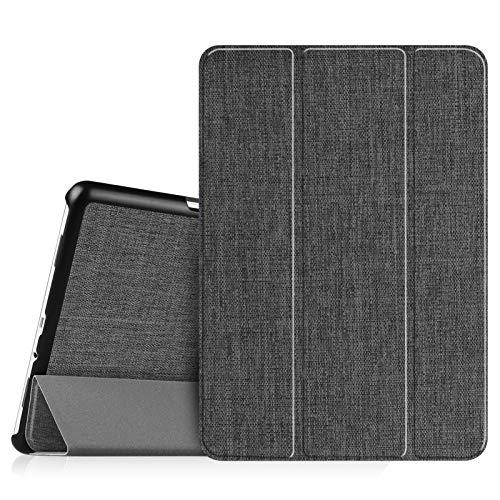 Fintie Hülle für Samsung Galaxy Tab A 9.7 Zoll T550N / T555N Tablet-PC - Ultra Schlank Superleicht Ständer SlimShell Cover Schutzhülle Etui mit Auto Schlaf/Wach Funktion, Stoff dunkelgrau