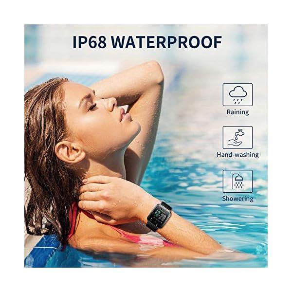 Smartwatch, Reloj Inteligente Impermeable IP68 con Monitor Sueño Pulsómetros Caloría Podómetro Operación con un Clic… 5