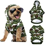 2 Pieces Camouflage Dog Basic Hoodies Pet Shirts Spring and Autumn Pet Clothes, Soft and Comfortable Dog Clothes (M)