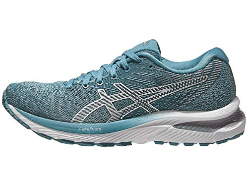 ASICS Women's Gel-Cumulus 22 Running Shoes, 9M, Smoke Blue/White
