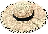 WSND FZWAI Visiera Paglietta Cappello Derby Cappello della Spiaggia della Protezione di Sun della Signora l'Summer Tesa Larga UV Cappelli Protect