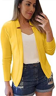Xinantime Womens Ladies Suit Slim Cardigan Solid Long Sleeve Pocket Coat Outerwear Trench Coat Casual Tops