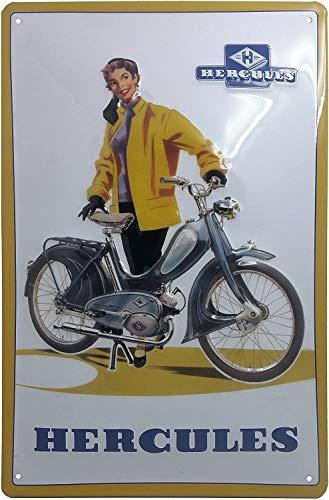 Hercules Mofa, Blechschild, hochwertig gepräg, Retro Werbeschild, Blechschild, Türschild, Wandschild, 30 x 20 cm