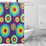 DEZIRO Batik-Muster Polyester Duschvorhang Wasserdicht, frei von PVC Chlor & chemischen Geruch, ungiftig, 152,4 x 182,9 cm