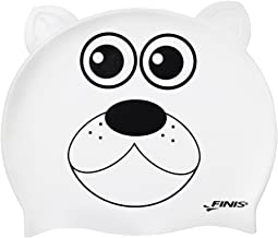 Finis Animal Heads Polar Bear Shaped Silicon Caps,White