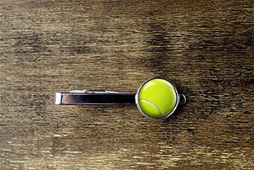 Flower world - Pinza de corbata de pelota de tenis, adorno de cristal de cpula accesorios de tenis, gemelos personalizados