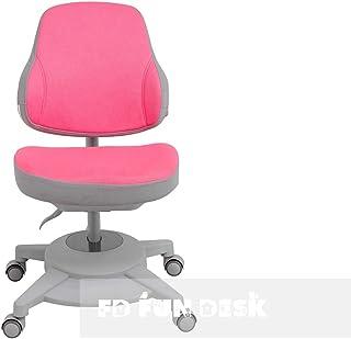 FD FUN DESK Pink Agosto-Silla de Escritorio ergonómica para niños, Color Rosa, 680x460x785 mm