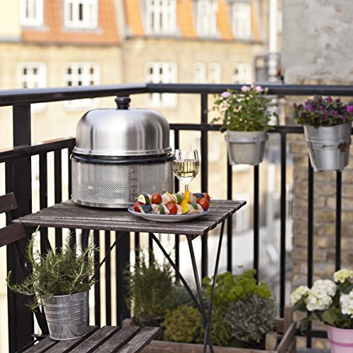 Premier Portable Grill, Stainless Steel, Dishwasher Safe BBQ Grill, Includes Bag & Roast Rack