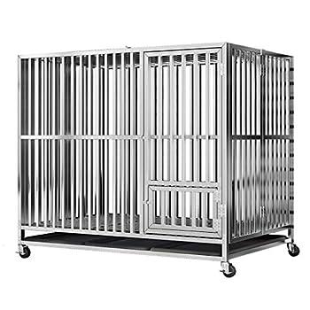 Une Cage Chenil Pliant Dog Cage Niche intérieure avec Toilette de Chien Cage en Acier Inoxydable Kit - Dog Cage