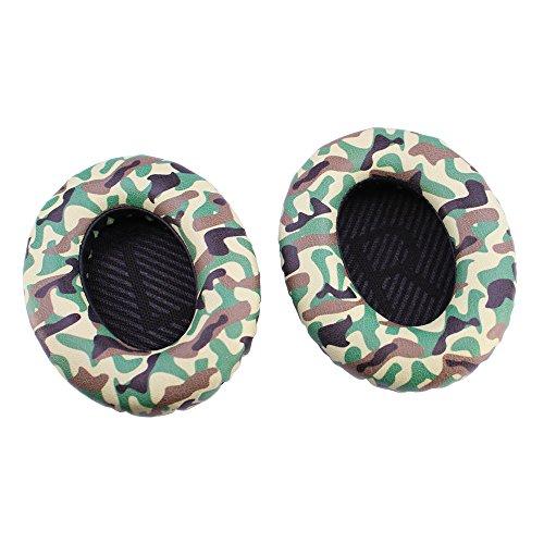 Conambo Ohrpolster Ersatz Ersatz Ohrpolster für Bose Kopfhörer Quiet Comfort 35 QC35 mit Memory Foam Protein Leder (1Pair Camo Green)