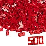 Blox - 500 bloques a granel, color rojo (Simba 4118922) , color/modelo surtido