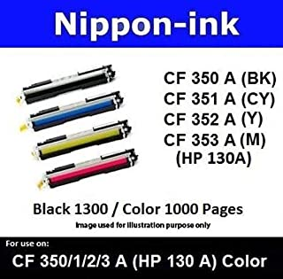 Nippon-ink CF353A (HP 130 A) Magenta For Use on HP Laser Colour Toners - LaserJet Pro series: M176n, M177fw, Magenta