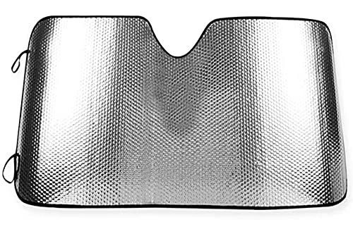 Parasol Coche Delantero,Parasol Luna de Coche Metalizado Cortina Reflectante para Vehículo Protección Rayos UV Parabrisas, Protector Solar Camionetas, Todoterrenos, Furgonetas (130 x 70cm)