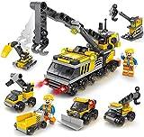 Crane Truck Construction Team Building Toys,City Engineering Crane Technic Car Building Blocks,Educational Construction for Age 6 7 8 9 10 11 12 Year Old Boys Girls & Kids